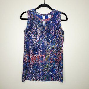 Cabi Stained Glass Sleeveless Blouse Sz XS